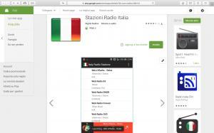 App Google Play - Stazioni Radio Italia - Demo Screen